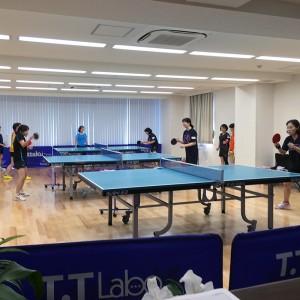 埼玉和光レディースチームの練習