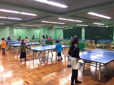 卓球コーナーは大勢の子供達で盛り上がりました