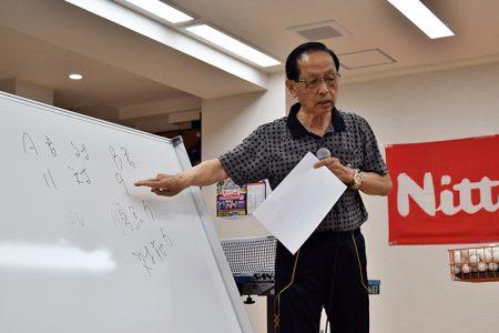 熱く講義される近藤欽司先生