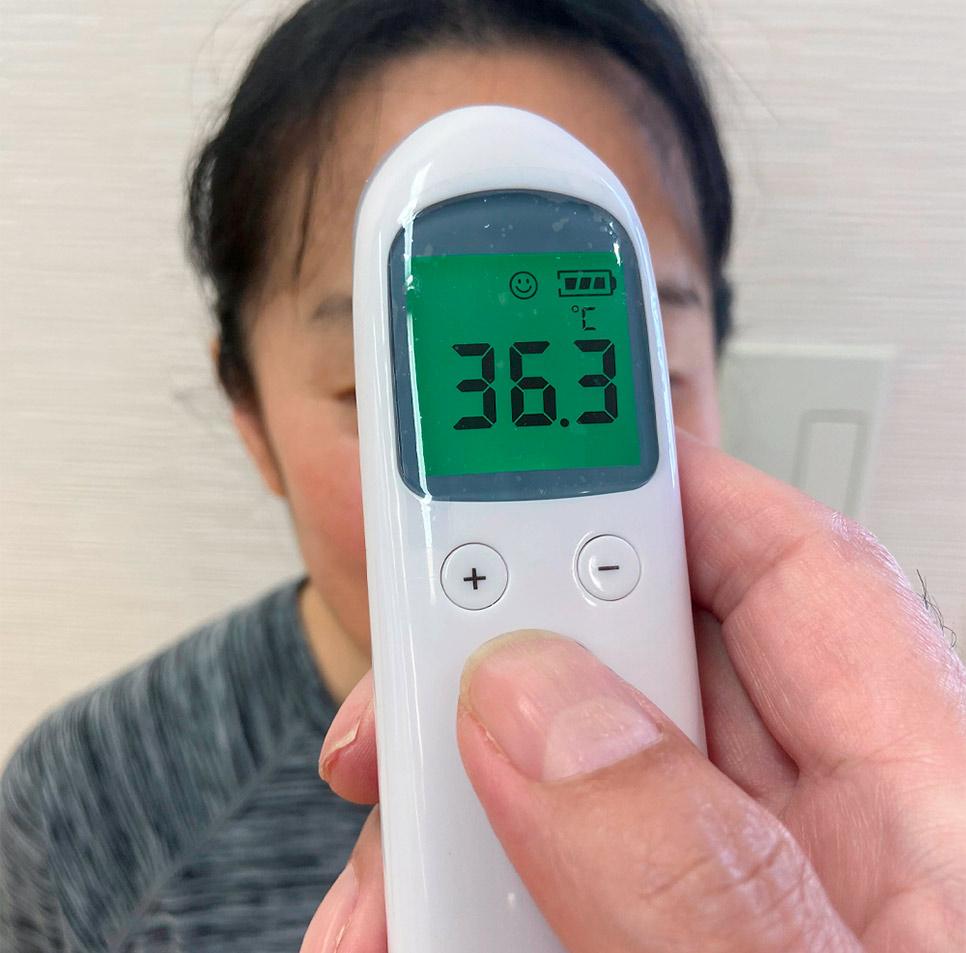 レッスン前の検温